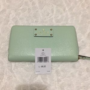 NWT Kate spade neda Wellesley wallet mint mojito